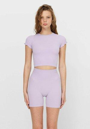 Basic T-shirt - mottled purple