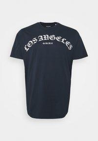 Jack & Jones - JORIMMORTAL TEE CREW NECK - Print T-shirt - navy blazer - 0