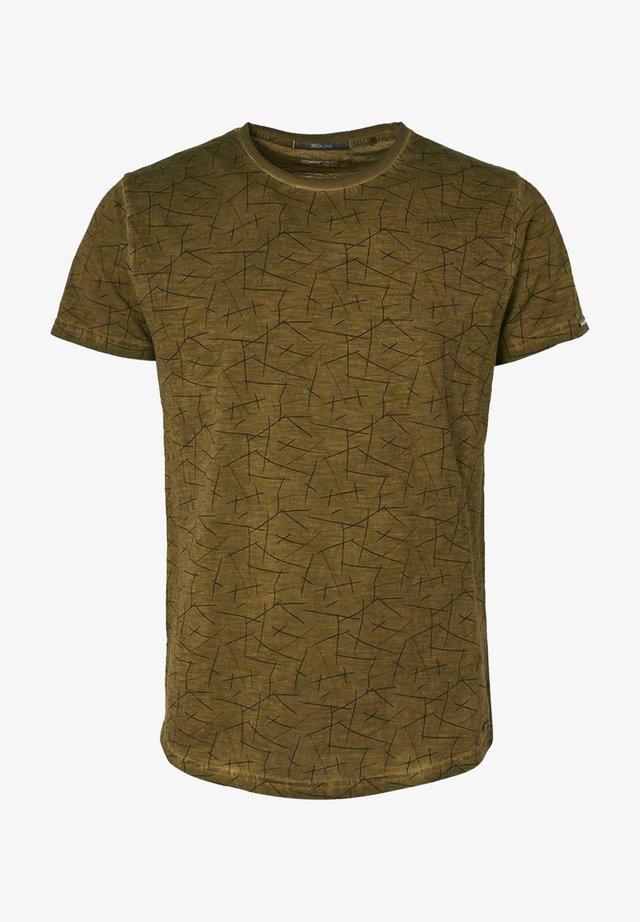 Print T-shirt - moss