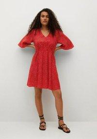 Mango - Day dress - rood - 1