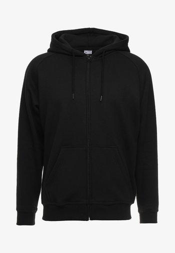 ZIP HOODY - Zip-up hoodie - black