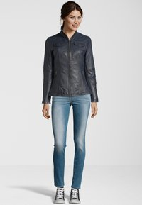 7eleven - PERUGIA  - Leather jacket - navy - 1