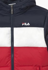 Fila - BROOKLYN PUFFER UNISEX - Winter jacket - black iris/true red/bright white - 2