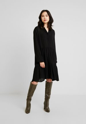 FQFLOW SOLID - Shirt dress - black