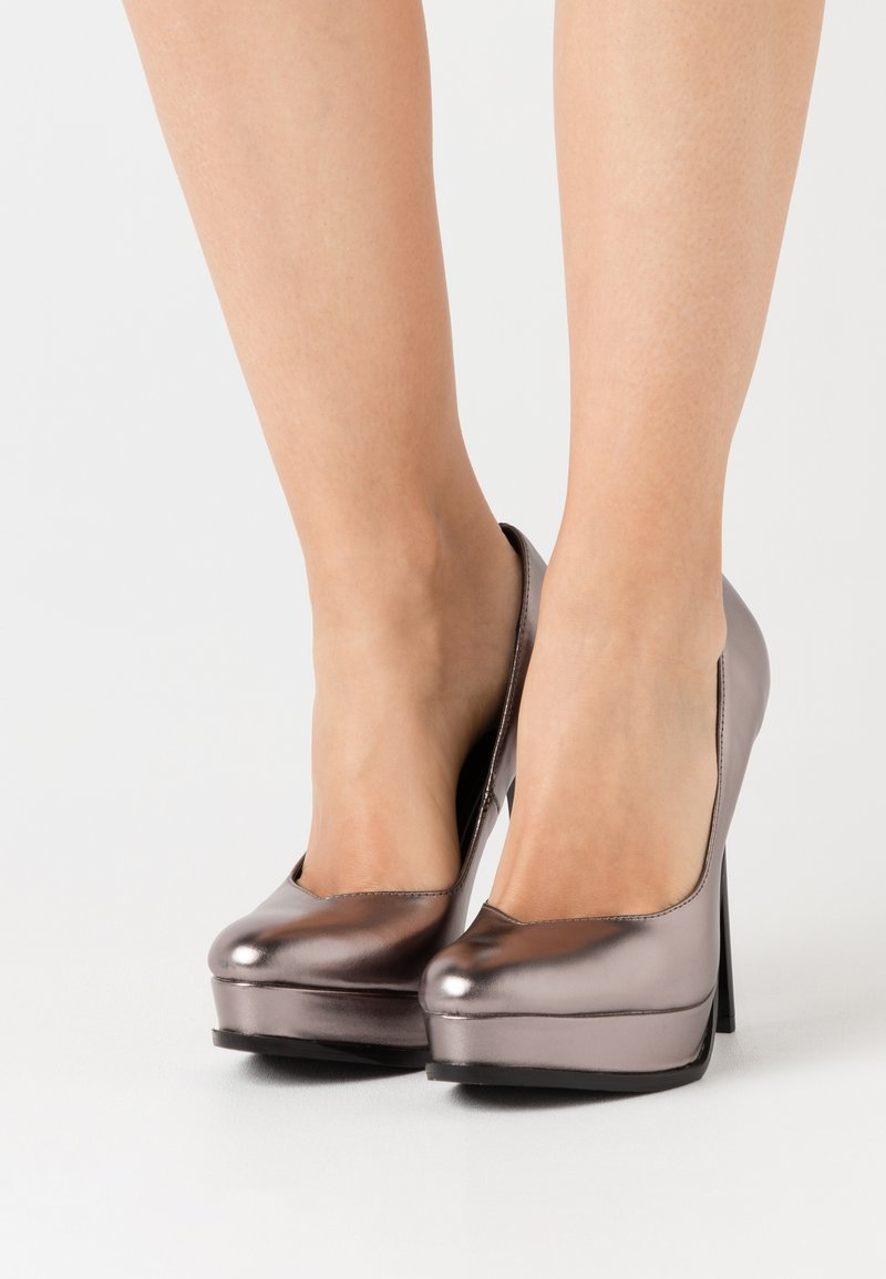 Even&Odd - High heels - gunmetal