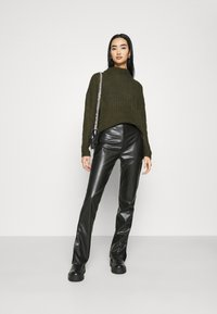 Nly by Nelly - SIDE CUT PANTS - Trousers - black - 1