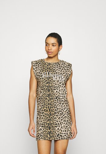 CONI DROPOUT DRESS - Jersey dress - brown
