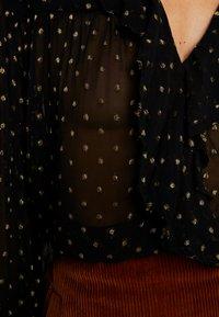 Leon & Harper - CHAMPETRE DOTS - Button-down blouse - black iris - 5
