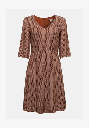 LIGHT WOVEN - Day dress - rust brown