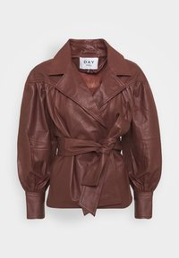 DAY Birger et Mikkelsen - DAY GROW - Leather jacket - cocco - 5