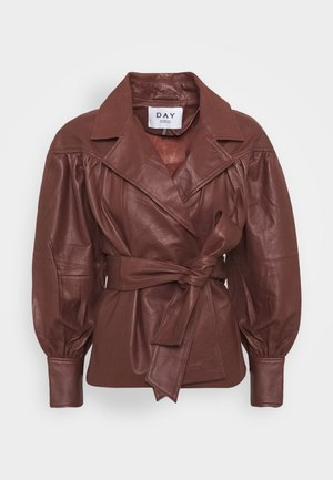 DAY GROW - Leather jacket - cocco