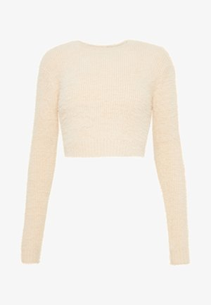 CROPPED FUZZY - Pullover - natural