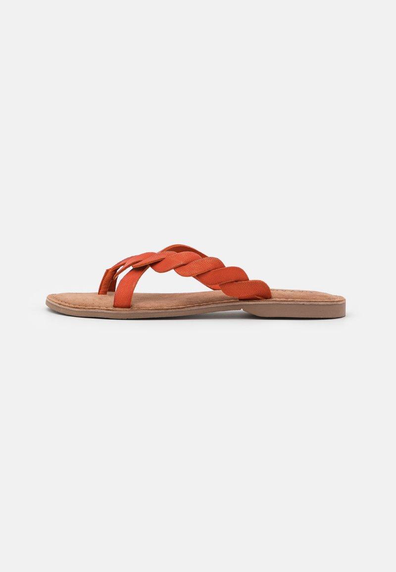 Lazamani - T-bar sandals - orange