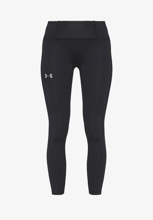 QUALIFIER SPEEDPOCKET PERFORATED ANKLE CROP - Tights - black/reflective