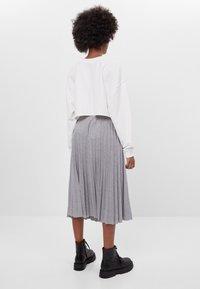 Bershka - A-line skirt - light grey - 2