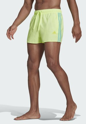 CLASSIC 3-STREIFEN BADESHORTS - Swimming shorts - yellow