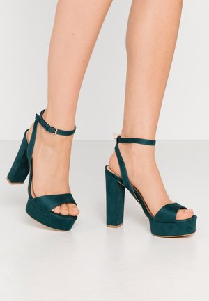 High Heel Sandalette - green
