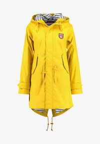 Derbe - TRAVEL FRIESE STRIPED - Parka - yellow/blue - 4