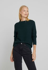 Betty & Co - Jumper - dark green melange - 0