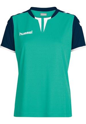 CORE SS - Print T-shirt - atlantis/marine pr