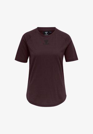 HMLVANJA - T-shirts - brown