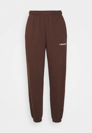 DARI PANTS - Träningsbyxor - brown