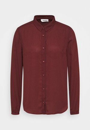FILO PRINT - Button-down blouse - maroon grid