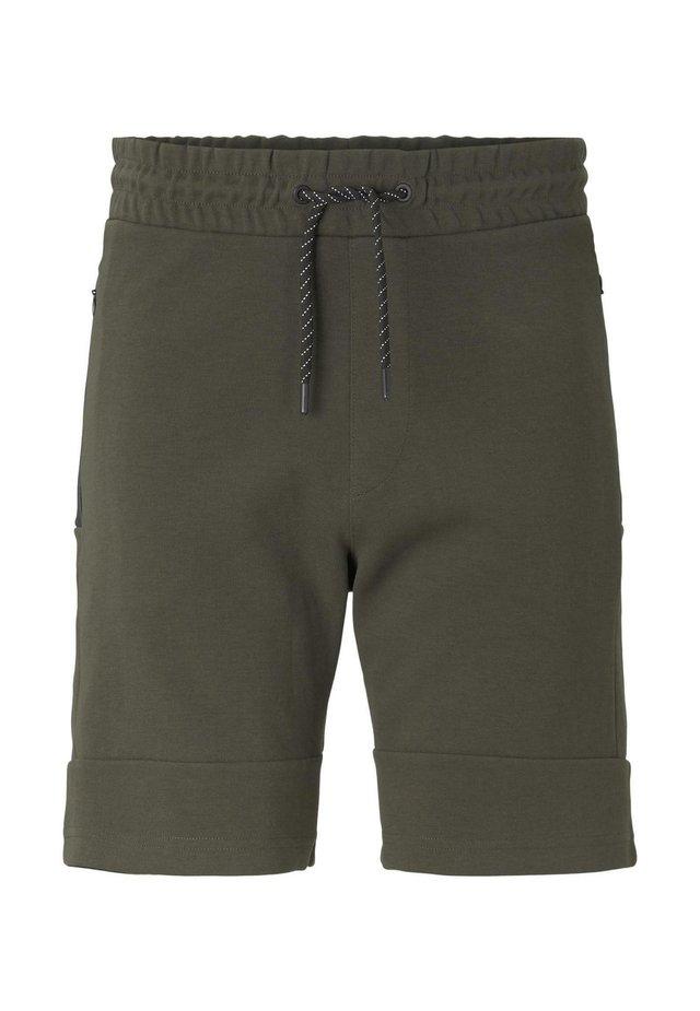 HOSEN & CHINO SWEAT-SHORTS MIT REISSVERSCHLUSSTASCHEN - Shorts - woodland green