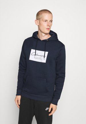 BOX LOGO HOODY - Sweat à capuche - navy