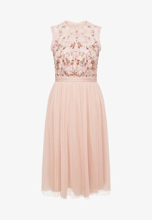 DARLING BODICE SLEEVELESS MIDI DRESS - Cocktail dress / Party dress - powder pink