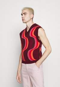 Jaded London - 70S WAVE - Jumper - red - 0
