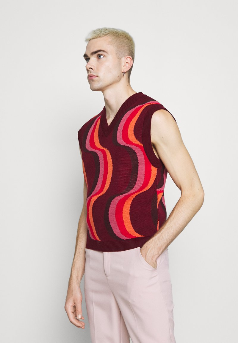 Jaded London - 70S WAVE - Jumper - red