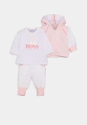 BABY SET - Tracksuit - pink/white