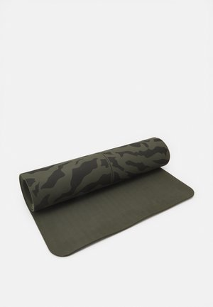EXERCISE MAT CUSHION 5MM  - Fitness / Yoga - forest green/black