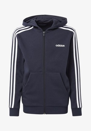 ESSENTIALS 3-STRIPES HOODIE - Sudadera con cremallera - blue