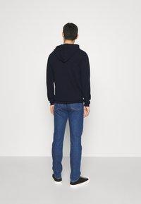 Wool & Co - CAPPUCCIO CUCITURE ESTERNE - Jumper - blu - 2