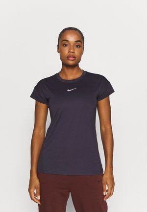 RUN  - Basic T-shirt - cave purple/atomic orange