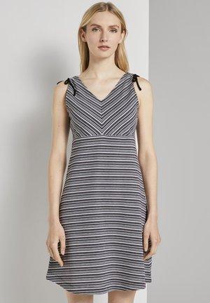 Jersey dress - black white structure