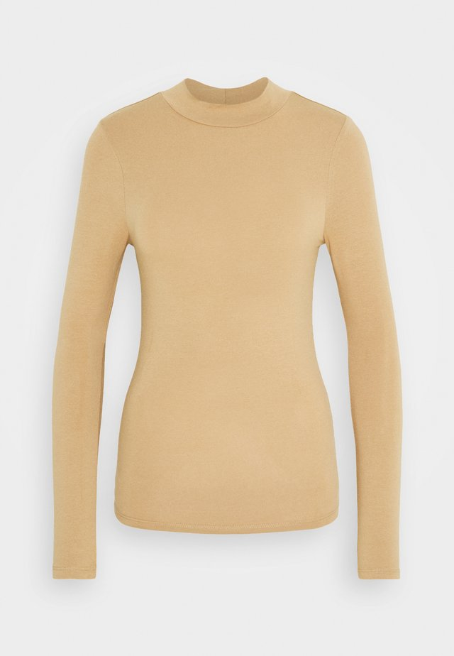 TURTLE NECK - Topper langermet - camel