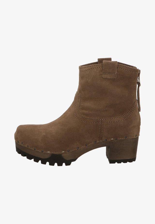 Platform ankle boots - darktaupe