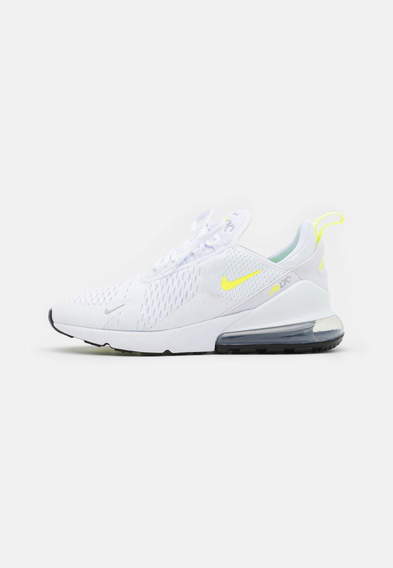 Nike Sportswear - AIR MAX 270 ESS  - Sneakersy niskie - white/volt/wolf grey/black