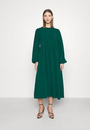 MIDI SMOCK - Maxi dress - dark green
