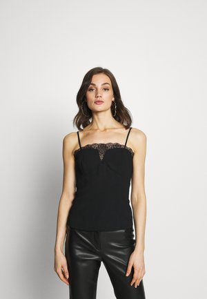 BUSTIER WITH CHANTILLI - Topper - black