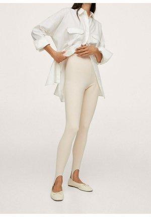 BASIC FUSEAU - Spodnie materiałowe - beige