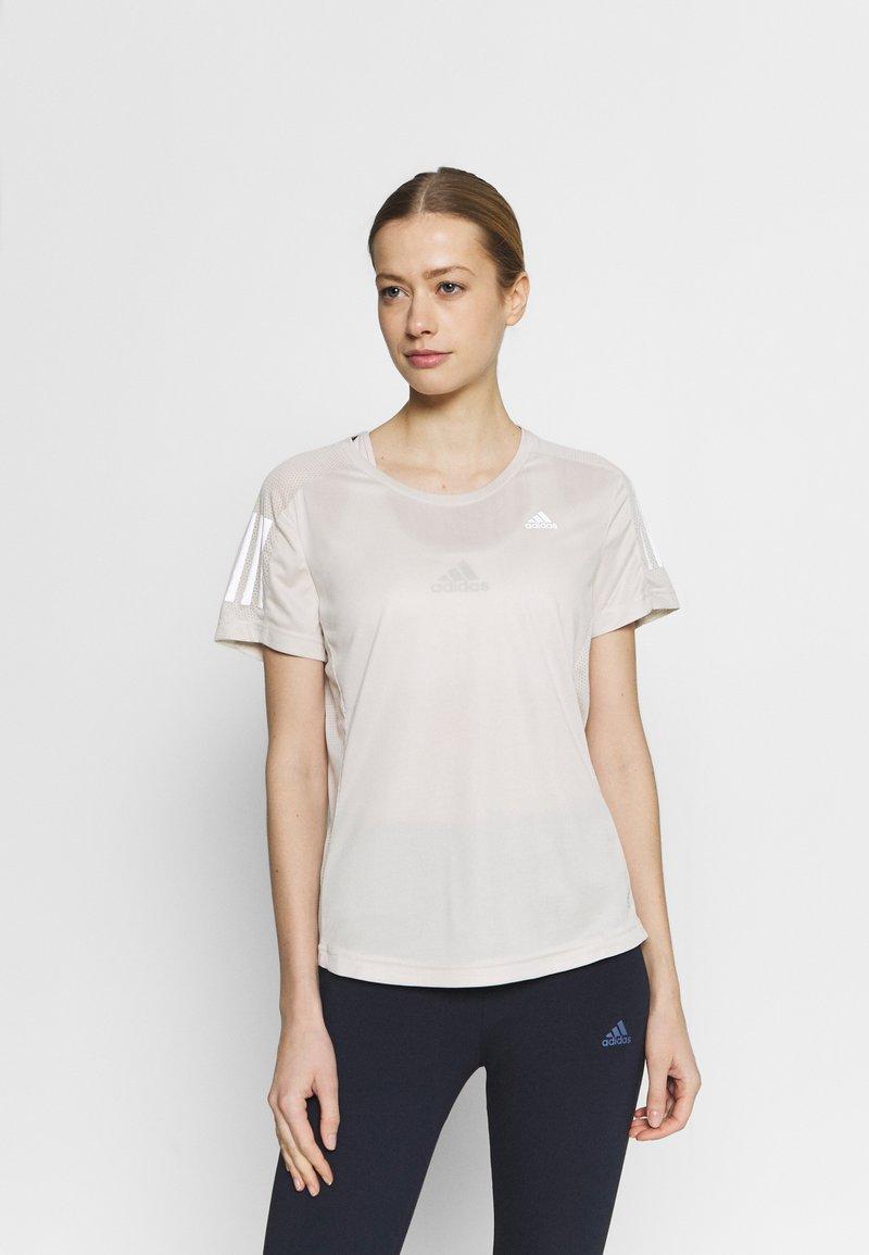 adidas Performance - OWN THE RUN TEE - Camiseta estampada - alumin