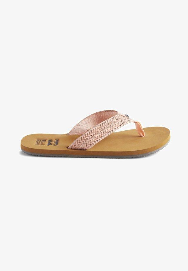 T-bar sandals - tropcl peach