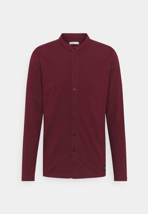 REACT GRANDAD SOLID - Shirt - burgundy