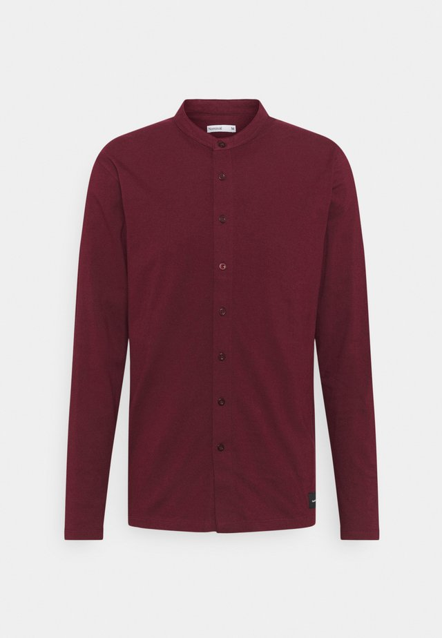 REACT GRANDAD SOLID - Shirt - burgundy
