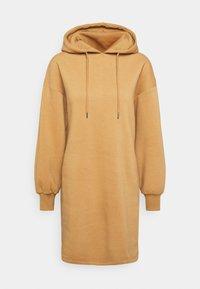 NU-IN - HOODIE MINI DRESS - Day dress - camel - 0