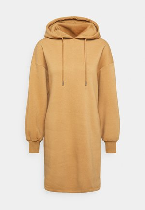 HOODIE MINI DRESS - Day dress - camel